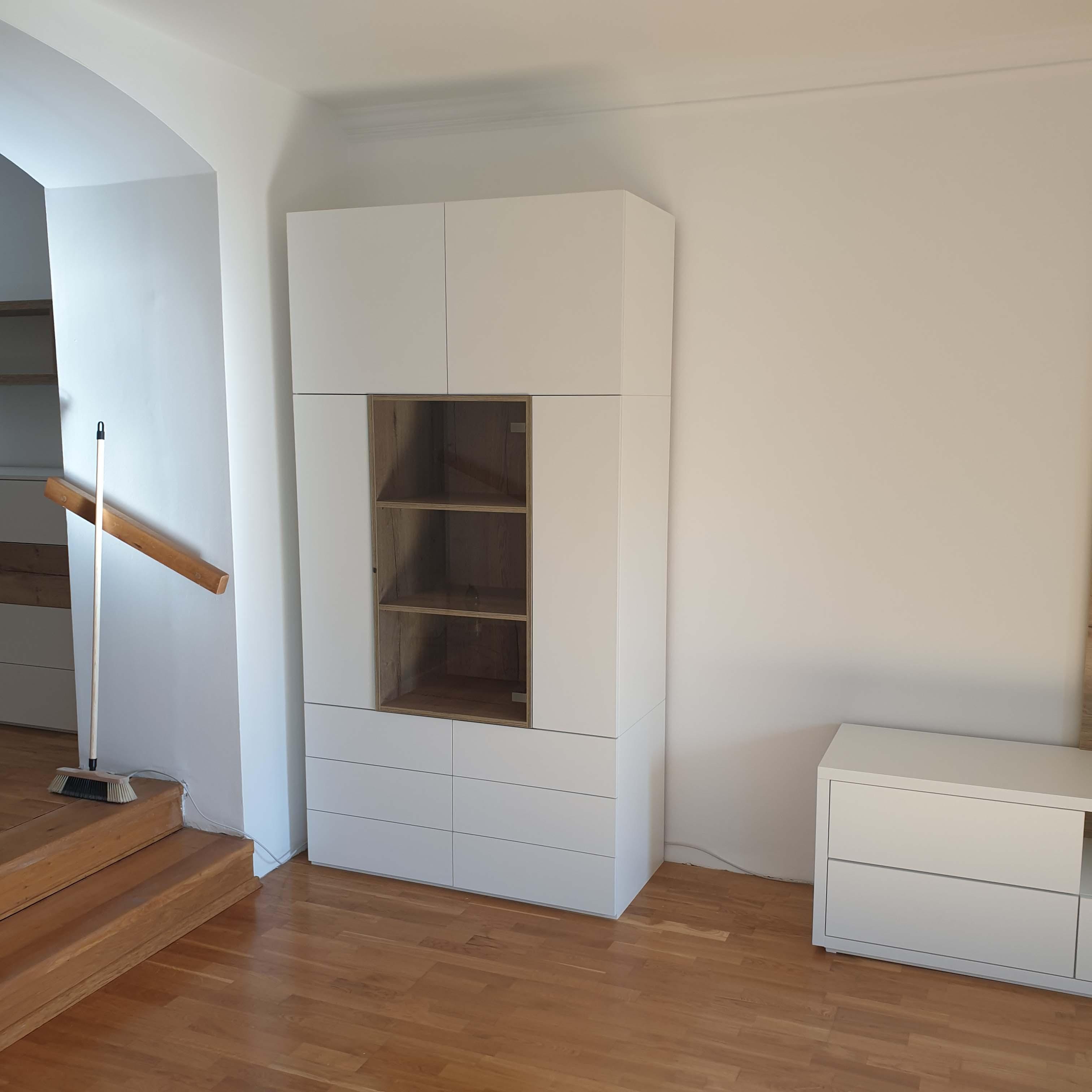 moderný nábytok do obývačky na mieru Trenčín