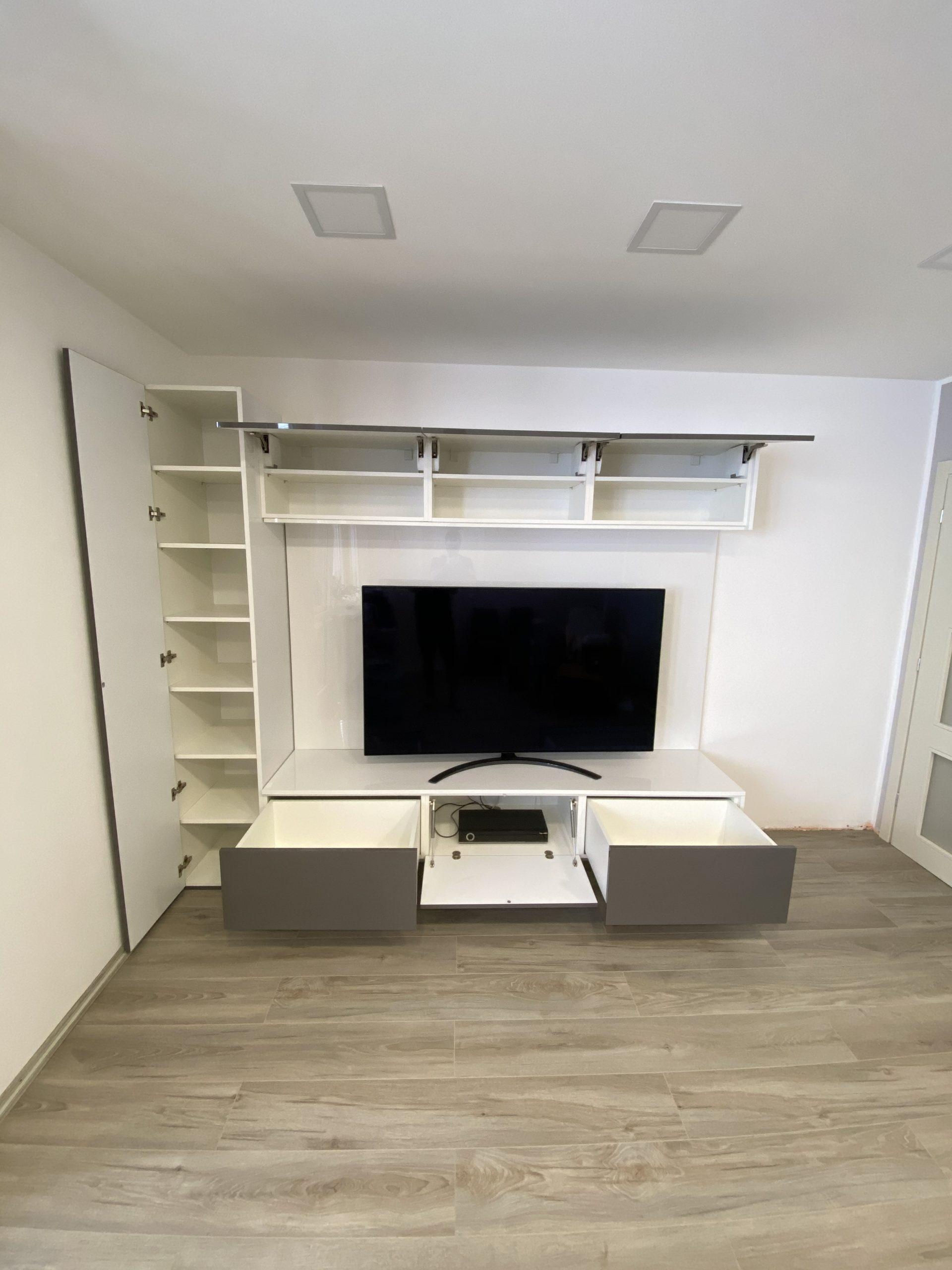 moderná obývačková zostava na mieru